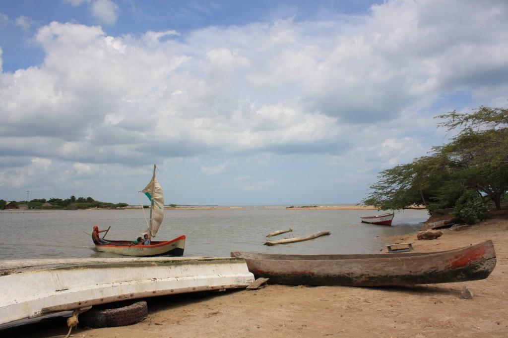 Nearby fishing village