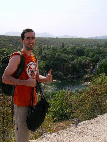 My buddy having just arrived at Kravice, Bosnia