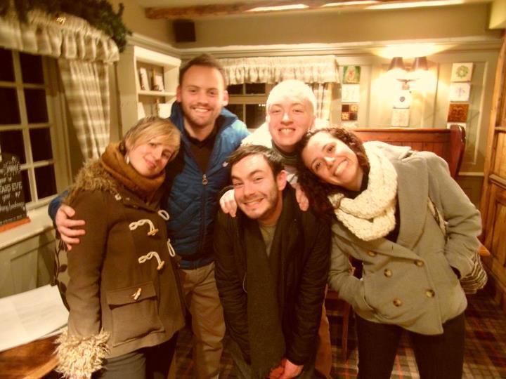 My gang in a pub