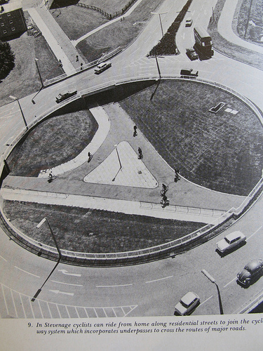 Roundabouts in the mighty Stevenage (courtesy of http://www.copenhagenize.com)