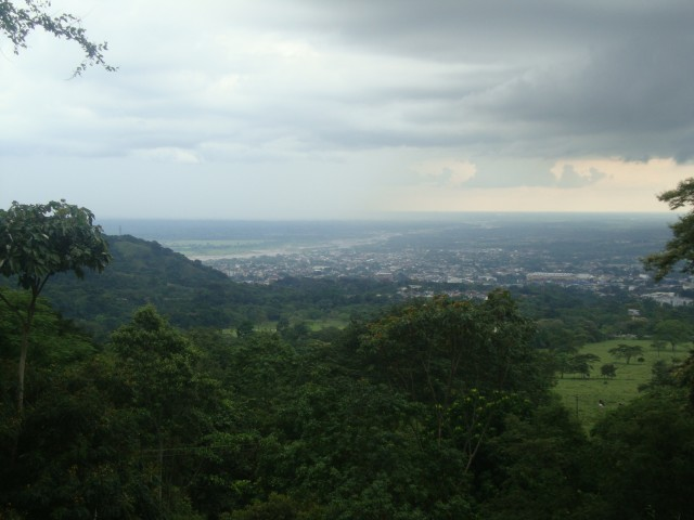 The view from the hills; heading to a finca outside Bogotá