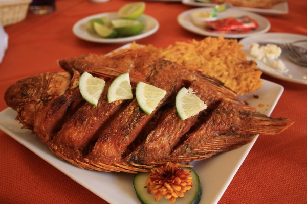 Delicious lunch in Colombia