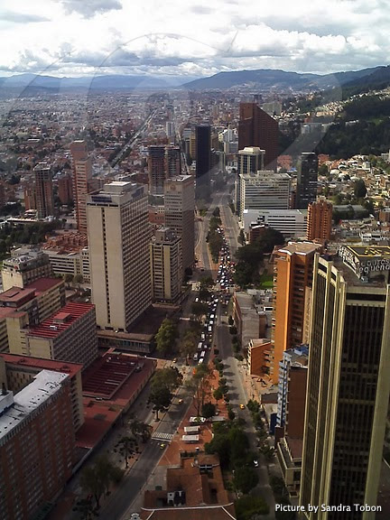 Overlooking the city of Bogota