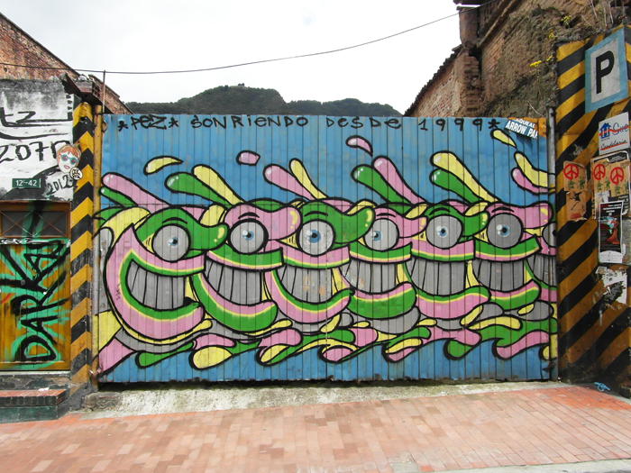 Work by Pez, a characteristically happy graffitero