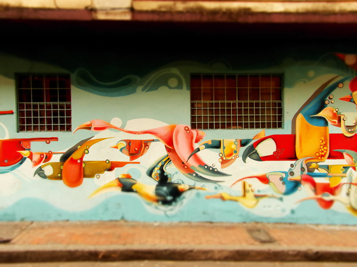 Graffiti is hidden away in many streets of La Candelaria