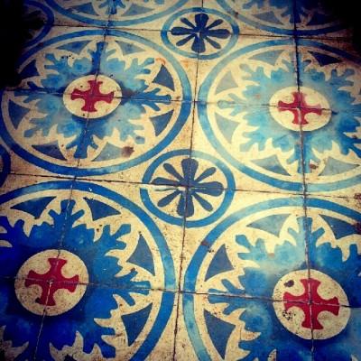 The gorgeous tiled floor