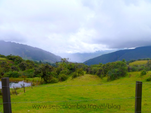 View of the Colombia countryside