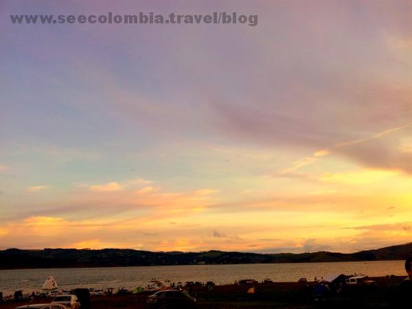 Watching the sunset, Calima Lake