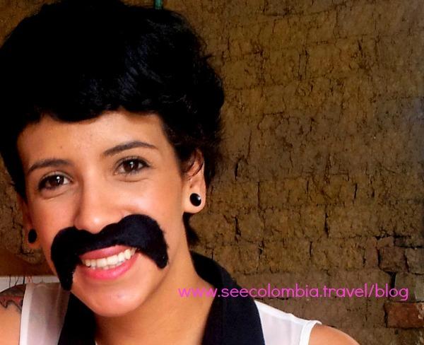 Mustachio woman