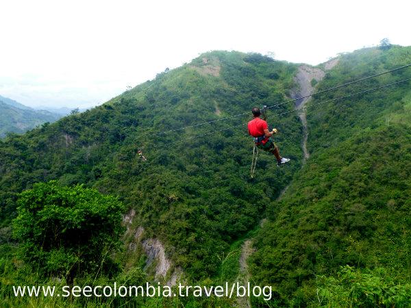 Zipline in Tobia, Colombia