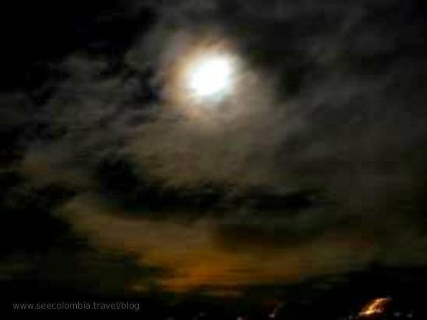The moon in La Mesa, Colombia
