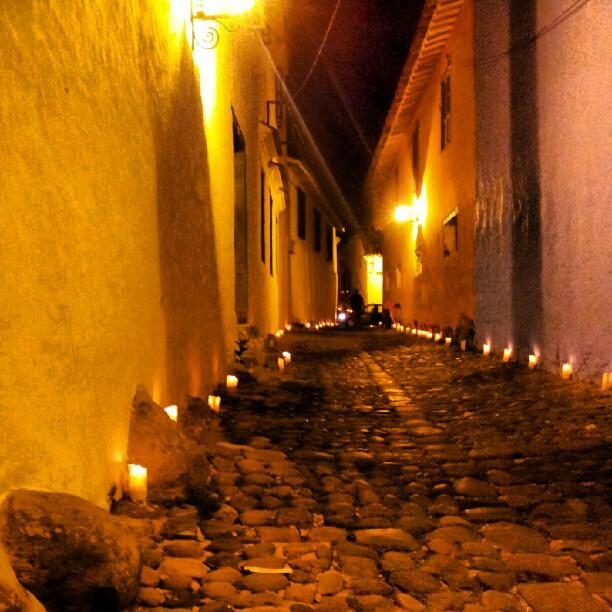 Candle-lit laneways of Honda, Tolima