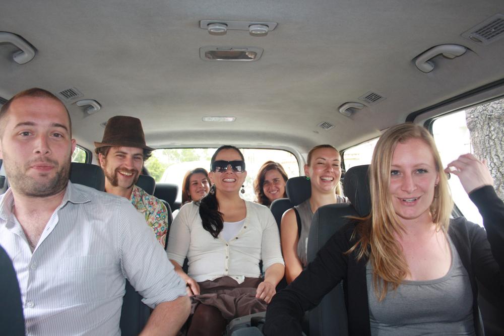 El equipo completo y nuestra amiga Toya rumbo a la aventura