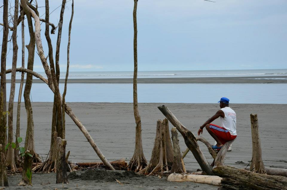 A typically quiet moment in La Barra on Colombia's Pacific coast