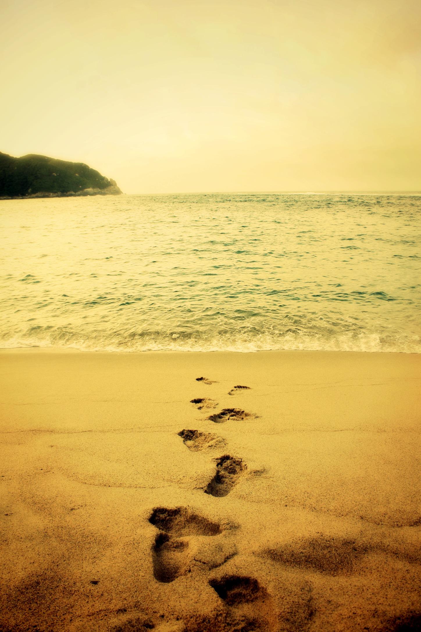 Tayrona Beach footprints Photo
