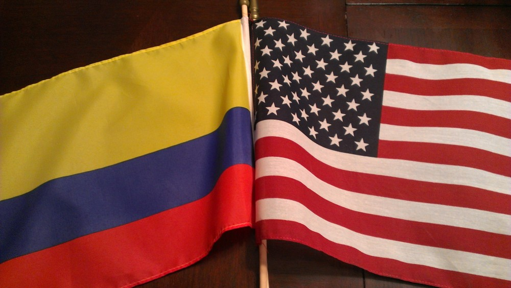 Colombia US Flags