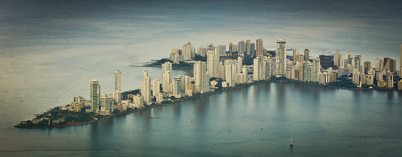 Cartagena from the air by Josmi Amin Martelo