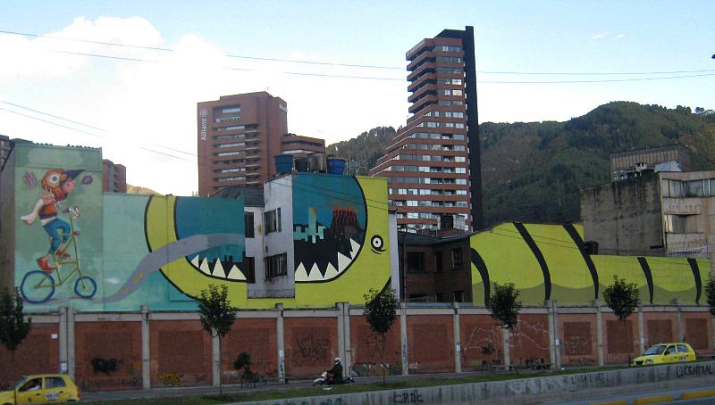 graffiti monster buildings