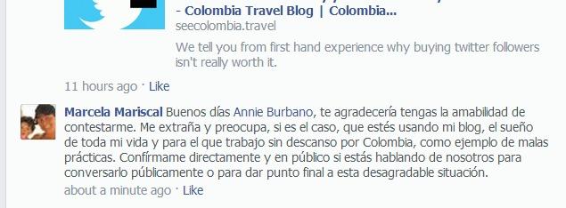 Annie Burbano no responde
