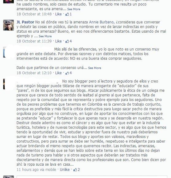Annie Burbano bloquea de Facebook