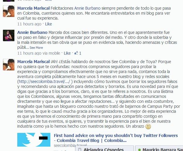 Annie Burbano Fake Facebook