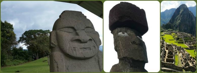 San Agustin Archaological Park Easter Island Machu Picchu
