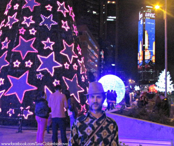 Christmas lights, Museo Nacional, Bogota