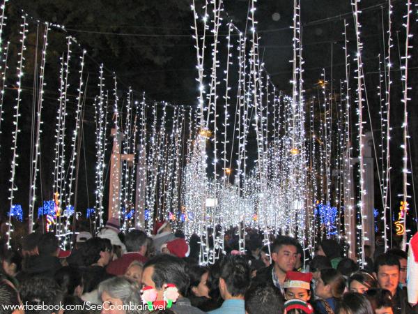 Christmas lights, Parque Nacional, Bogota