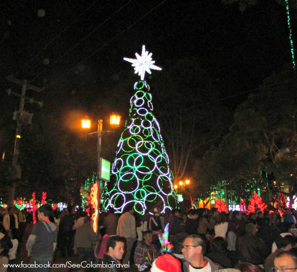 Christmas lights in Usaquen, Bogota