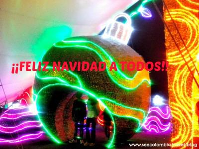 Bolita de Navidad en Medellin