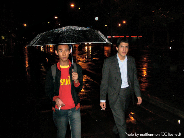An umbrella is an essential item for Bogota's weather. Thankfully there are umbrella vendors exactly when you need them