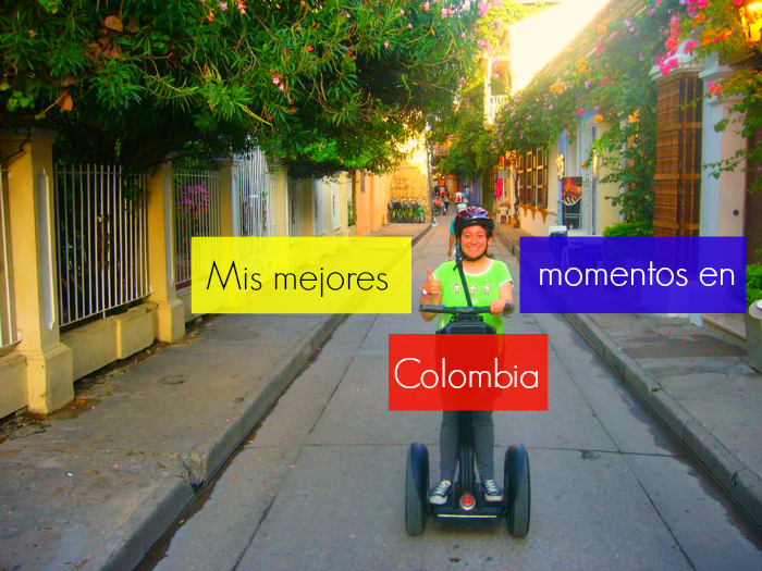 Carolina on a segway tour in Cartagena, Colombia
