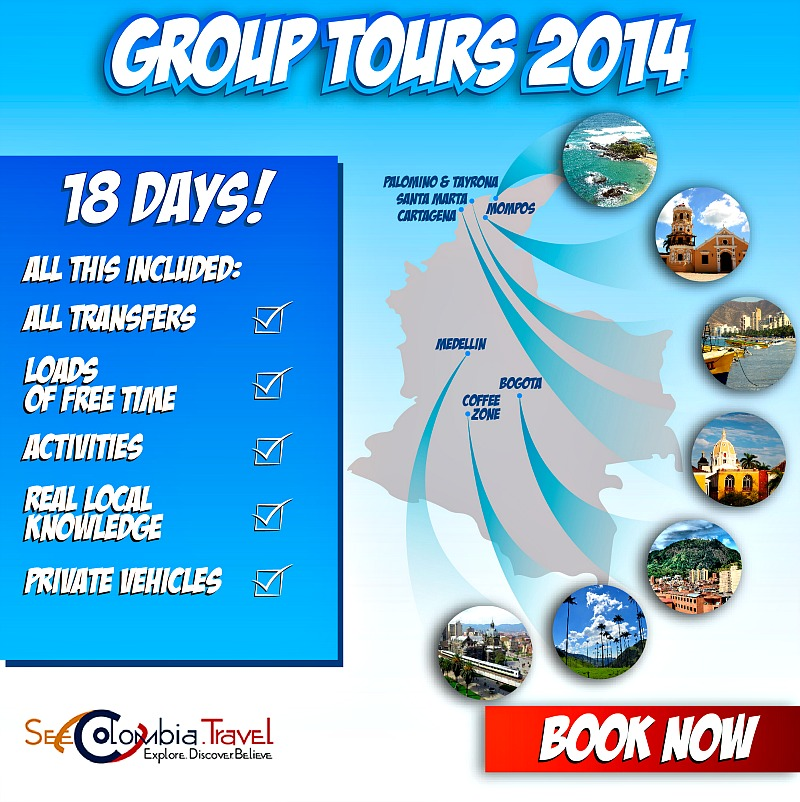 Colombia Group Tours 2014