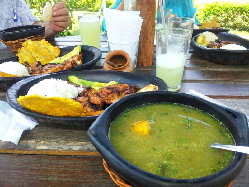 Some delicious Colombian food in Quindio