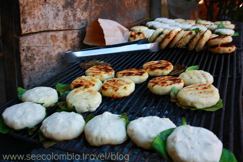 Arepas food Colombia