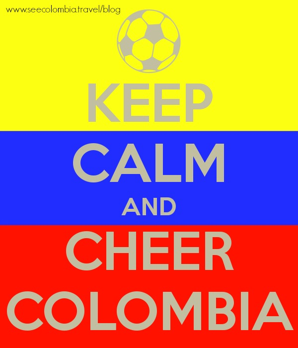 Keep Calm and Cheer Colombia