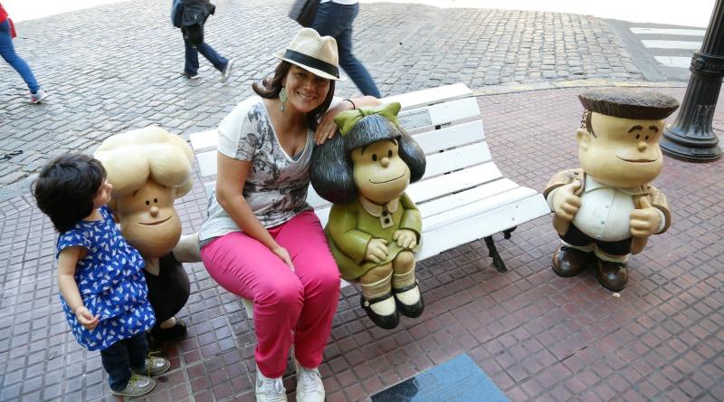 Nuevas estatuas de Susanita y Manolito