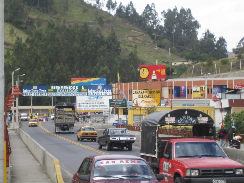 Colombia Ecuador border