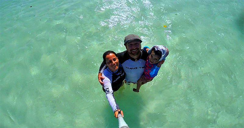 Baby beach aruba niños
