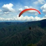Paragliding over the Chicamocha Canyon