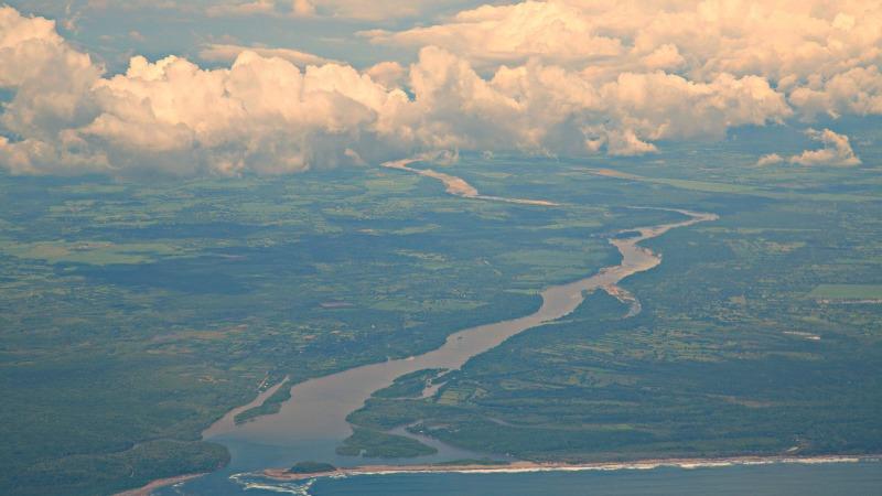 viaje al El Salvador desde el aire