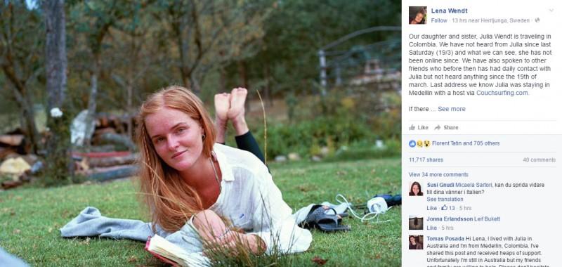 julia wendt (image: Facebook)