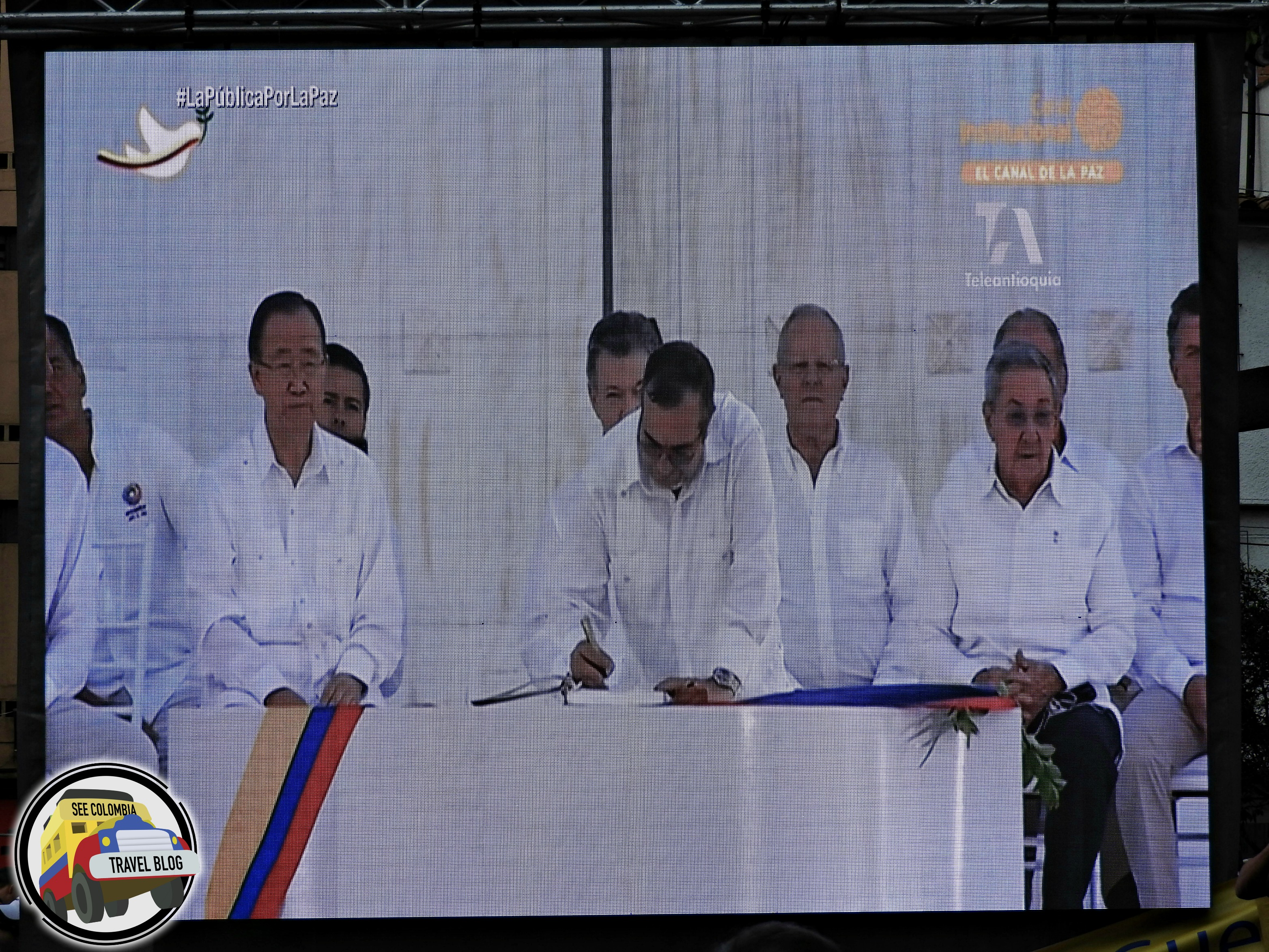 colombia peace signing
