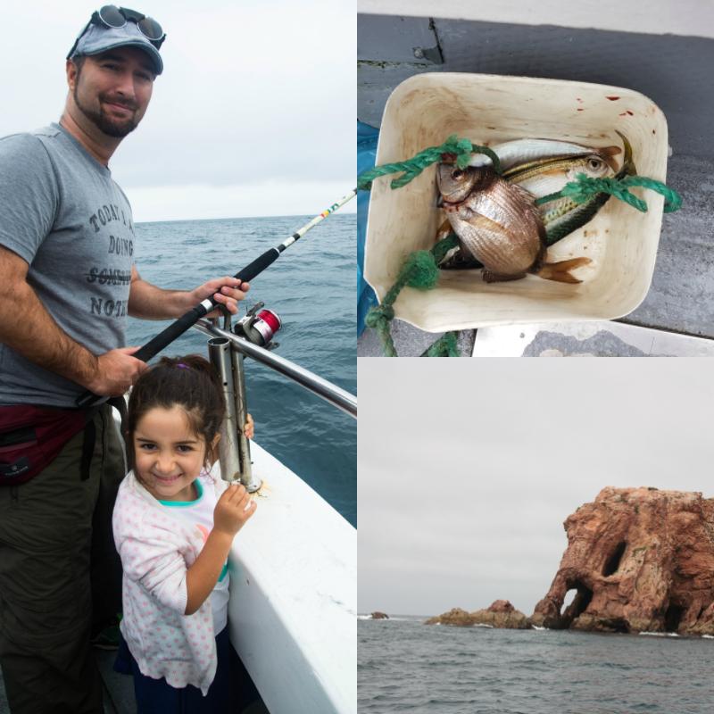 De pesca en Islas Berlengas en familia