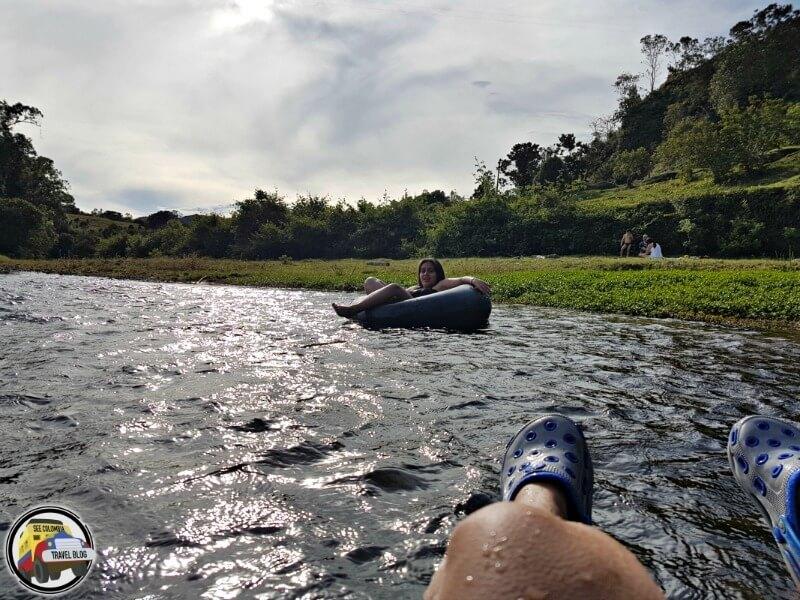 Tubing río frío Támesis Antioquia