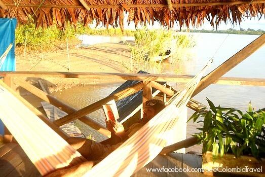 Lazing in a hammock in the Colombian Amazon